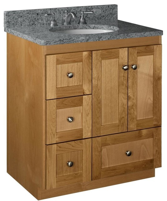 Simplicity By Strasser Bathroom Shaker 30 In W X 21 In D X 34 1 2in H Vanity Contemporary