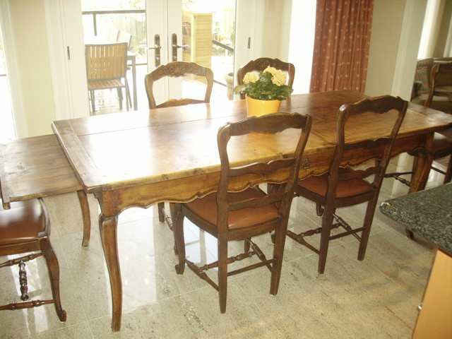 Antique Provenu00e7al French Country Table with Six Chairs ...