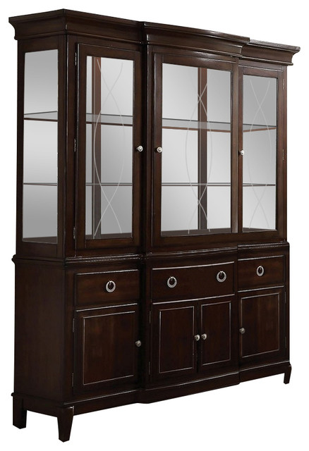 Florence formal dining room furniture hutch and buffet in