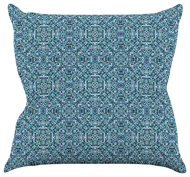 Teal Blue Throw Pillow : Allison Soupcoff