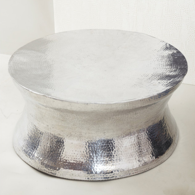 silver hammered coffee table 1