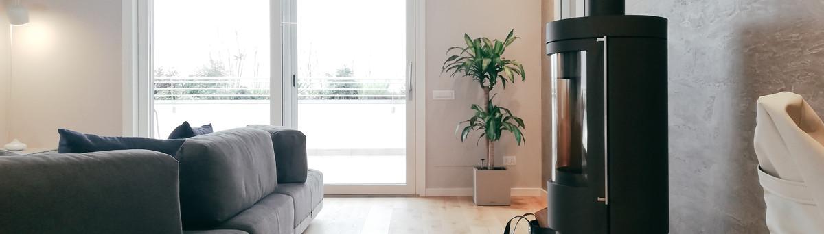 L'eleganza del nero   progettazione soggiorno con cucina a vista