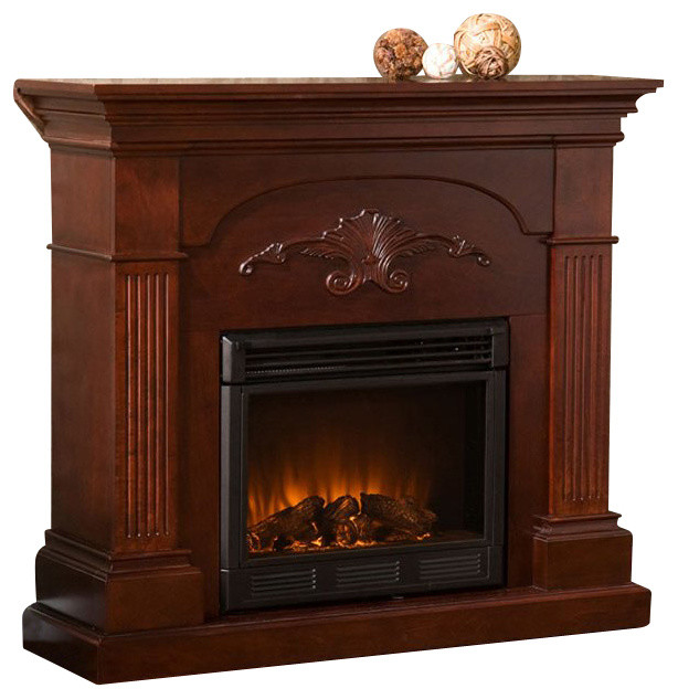 Sei Sicilian Harvest Electric Fireplace Mahogany Traditional Indoor Fireplaces By Luxvanity