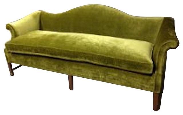 Vintage Green Velvet Sofa Victorian Sofas By Chairish