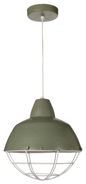 phare suspension moderne alu celadon h24cm industriel. Black Bedroom Furniture Sets. Home Design Ideas
