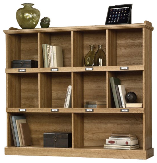 Sauder Barrister Lane Bookcase in Scribed Oak Finish - Transitional - Bookcases - by Cymax