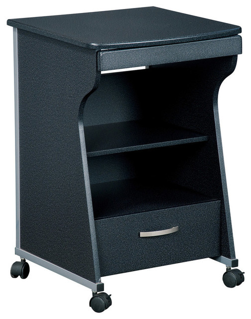 Techni Mobili Rolling File Cabinet in Graphite - Contemporary - Filing Cabinets - by Beyond Stores