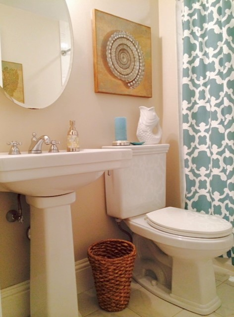 Residential bath remodel before after for Residential bathroom remodeling