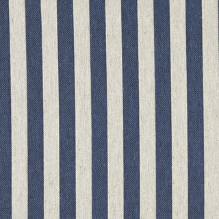 Blue And Off White Striped Linen Look Upholstery Fabric By