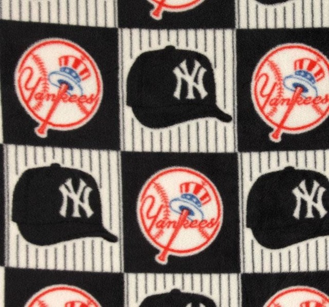 Upholstery And Drapery Fabric New York Yankees Block Fleece Traditional