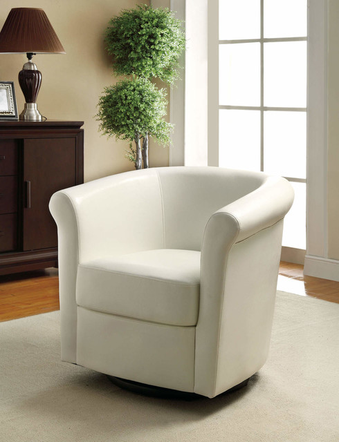 Barrel Back Swivel Accent Chair - Modern - Armchairs And ...