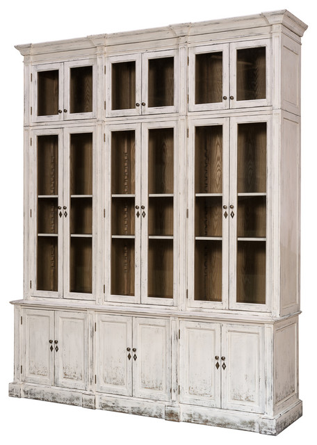 Canan Glassfront Cabinet - Farmhouse - China Cabinets And Hutches - by Autumn-Elle Design