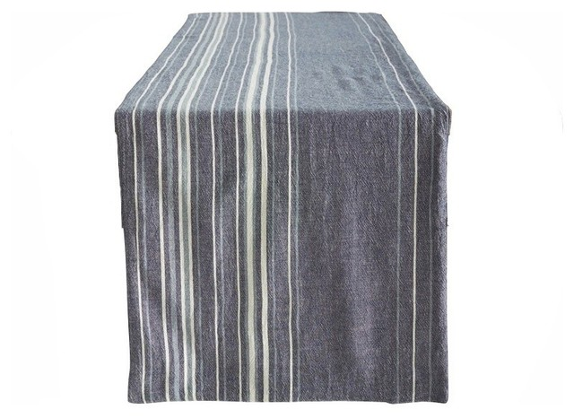 x transitional 18 table Runner, runners Table 90  and linens table Stripe kitchen Midnight