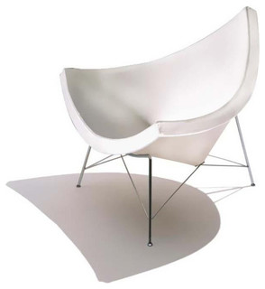 white coconut chair midcentury chaise longue