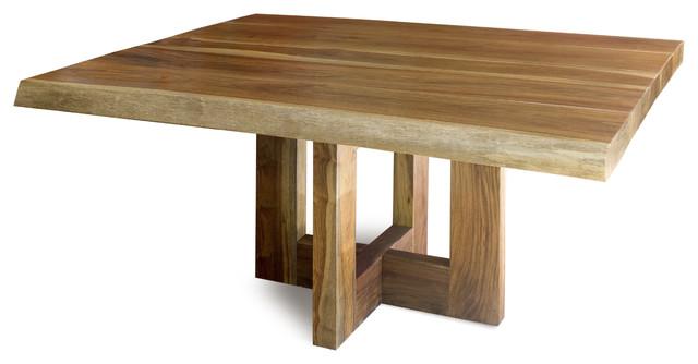 Jacaranda dining table solid raw edge wood