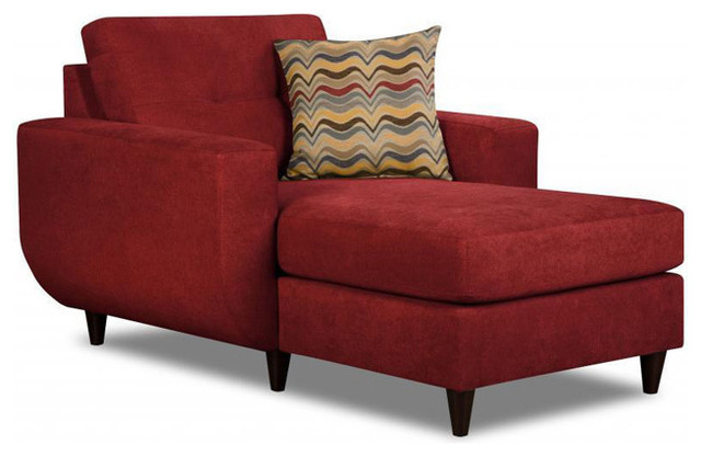 Made To Order Simmons Upholstery Killington Red Chaise Contemporary Indoo