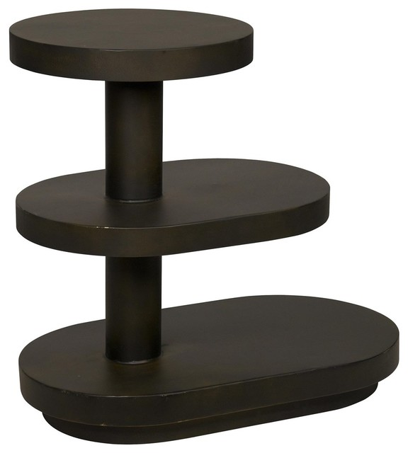 Noir Furniture Dunkird Table Antique Gold Contemporary Side Tables And End Tables