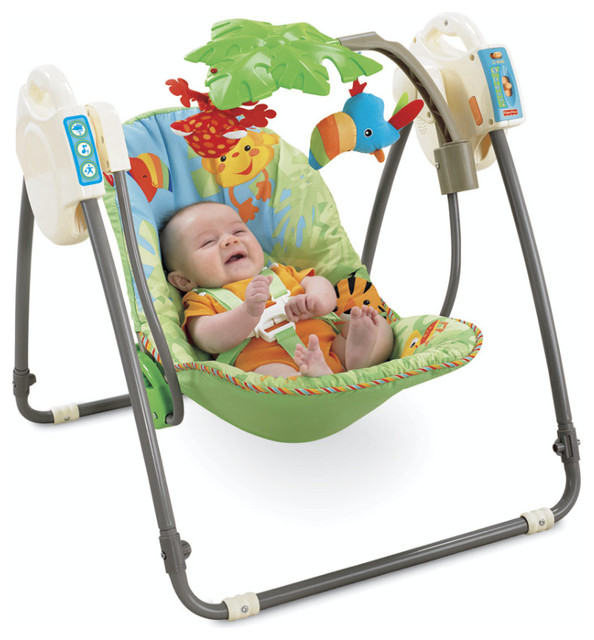 Fisher Price Rainforest Open Top Take Along Baby Swing Swings Mothercare Contemporary