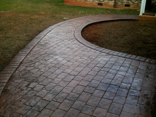 Concrete Cobble Street : Stamped concrete rocky mount cobblestone traditional