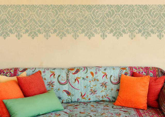 moroccan lace stencil eclectic wall stencils