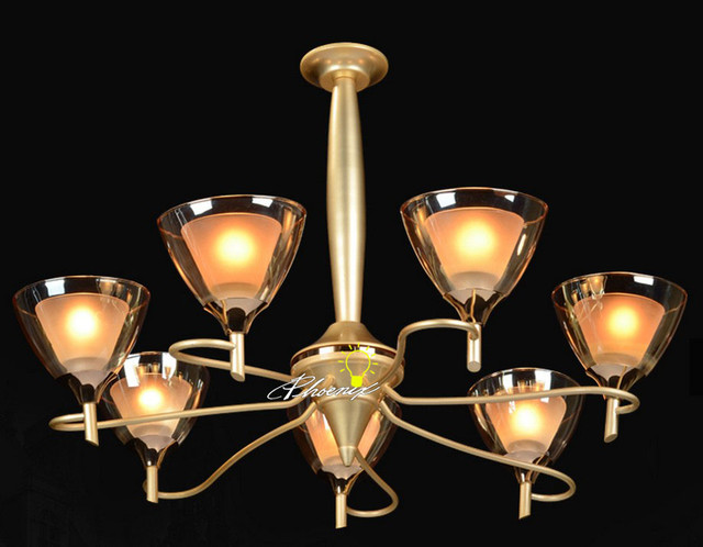 Modern 2 Layers Glass Shades Chandelier Contemporary Chandeliers New Yo