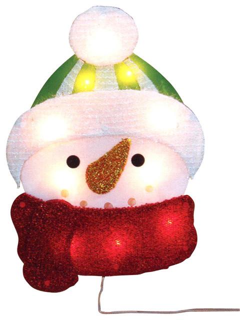 15 lighted tinsel snowman christmas window silhouette for 16 lighted snowflake christmas window silhouette decoration