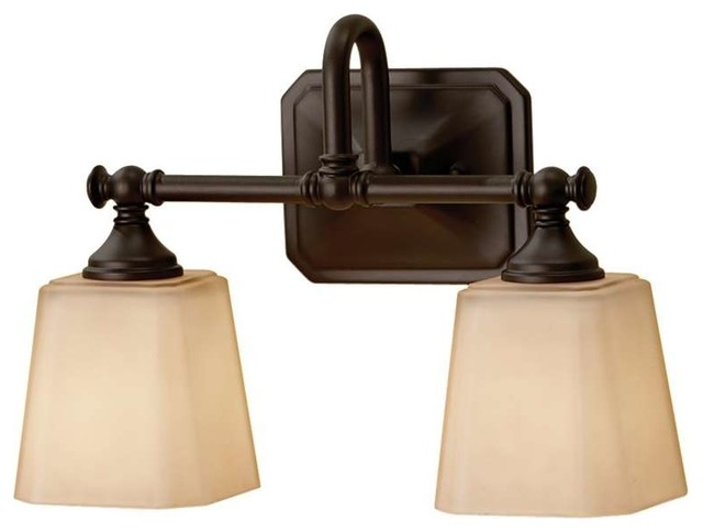 Feiss Concord 2 Light Bathroom Wall Sconce Oil Rubbed Bronze Transitional Bathroom Vanity