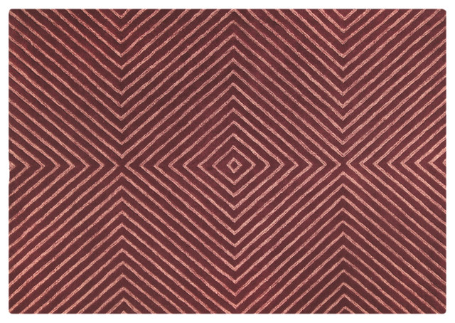 Mat orange union square mauve rug modern rugs los for Modern rugs los angeles