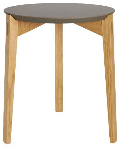 K stone petit gu ridon en ch ne et c ramique naturel for Table d appoint pour canape
