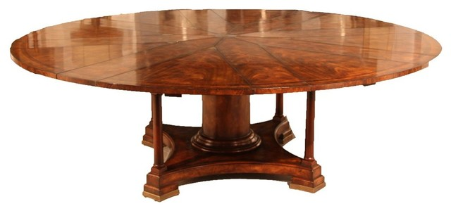 60 84 Round Mahogany Dining Table With Leaves Seats 8