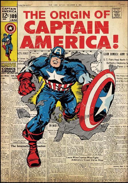 Comic Book Cover Wall Art ~ Captain america comic book cover wall accent sticker