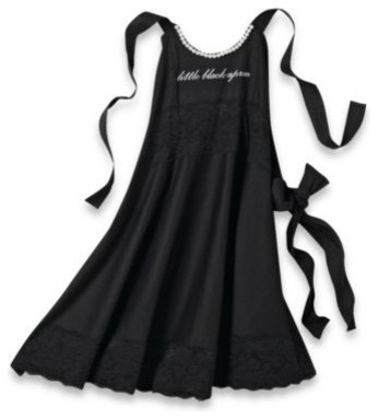 Little Black Dress Apron Contemporary Aprons By Bed
