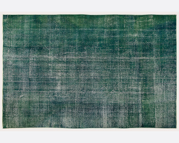 Handmade Emerald Green Overdyed Rug All The Hues Rugs