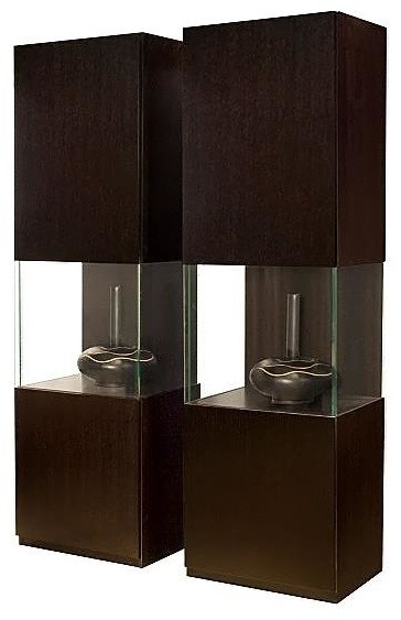 Contemporary Curio Cabinet w Glass Door Midsection - Iris ...