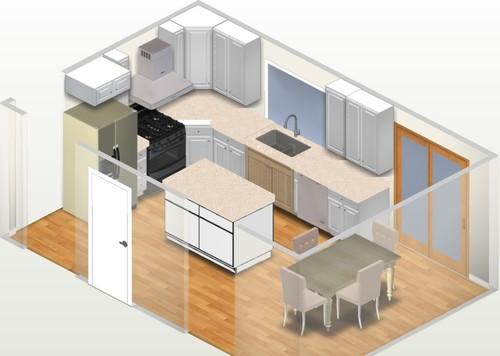 Kitchen Layout Placement Of Fridge