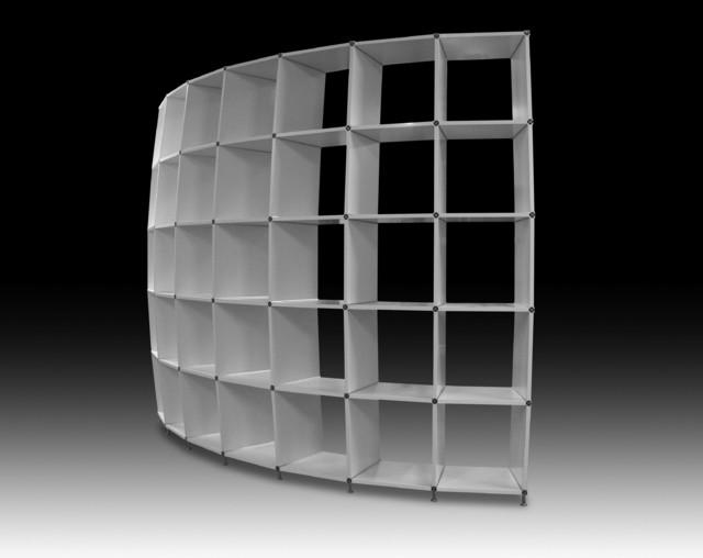 3 d verformtes regal kugelabschnitt wei modern. Black Bedroom Furniture Sets. Home Design Ideas