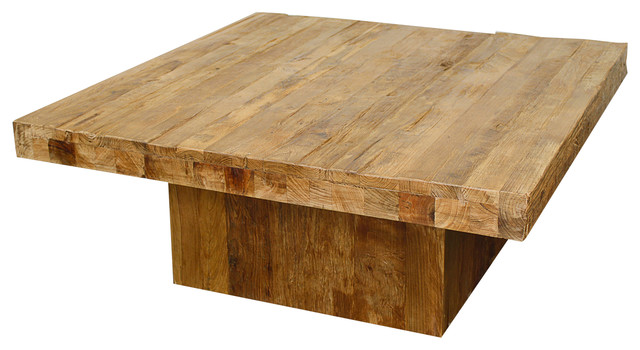 Maxim square coffee table natural rustic coffee tables by new
