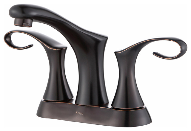 Cirrus 4 Inch Centerset 2 Handle Bathroom Faucet Oil Rubbed Bronze Bathroom S
