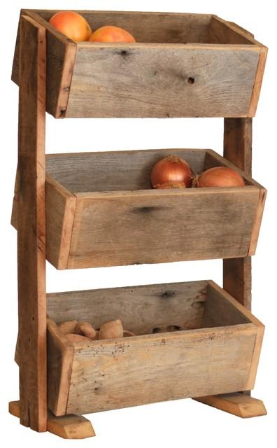 Countertop Vegetable Storage : Rustic Storage Shelf - Rustic - Kitchen Storage And Organization - by ...