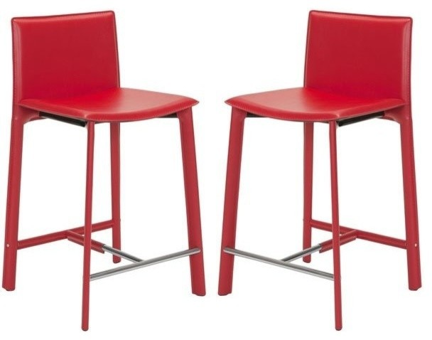 Safavieh Janet Red 24 Quot Counter Stool Set Of 2 X 2tes