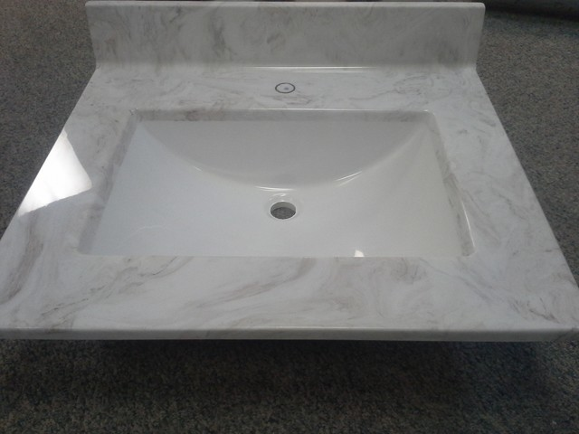 white cultured marble bathroom sink : Brightpulse.us