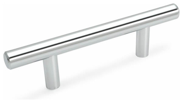 Cosmas European Bar Pull, Polished Chrome - Contemporary - Cabinet And Drawer Handle Pulls - by ...