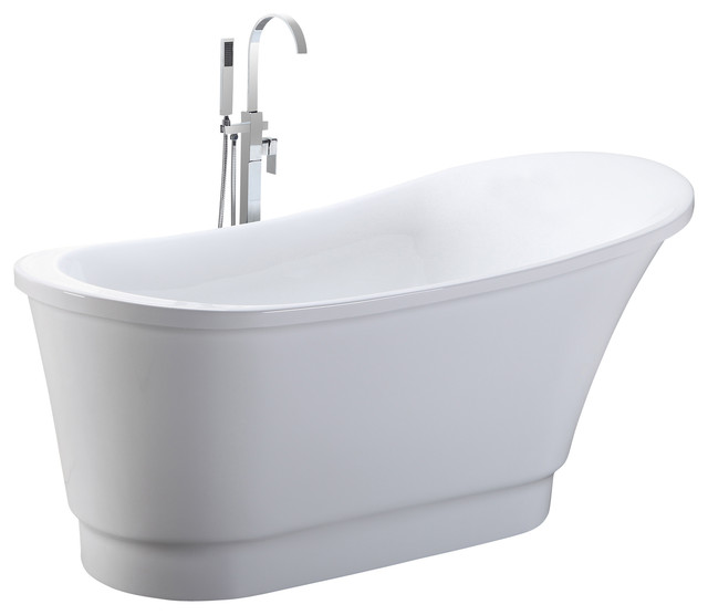 Helixbath olympia free standing acrylic soaking bathtub for Pros and cons of acrylic bathtubs