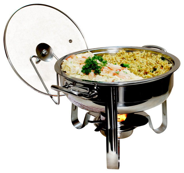 4-Quart Stainless Steel Chafing Dish - Contemporary ...