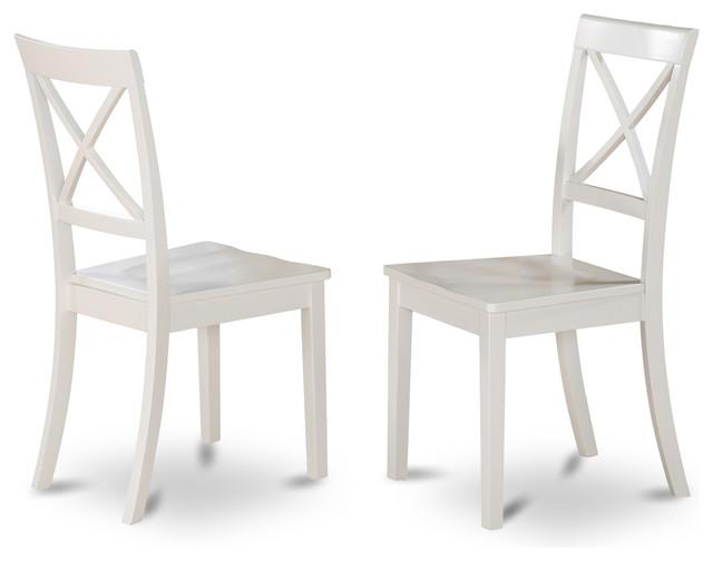 Boston X Back Chairs Set Of 2 White Beach Style