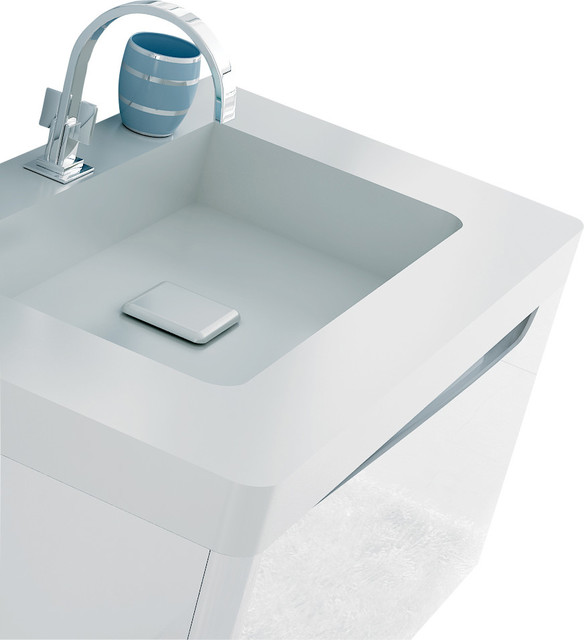 Code Bathroom Vanity 31 5 White Gloss Without Faucet Modern Bathroom