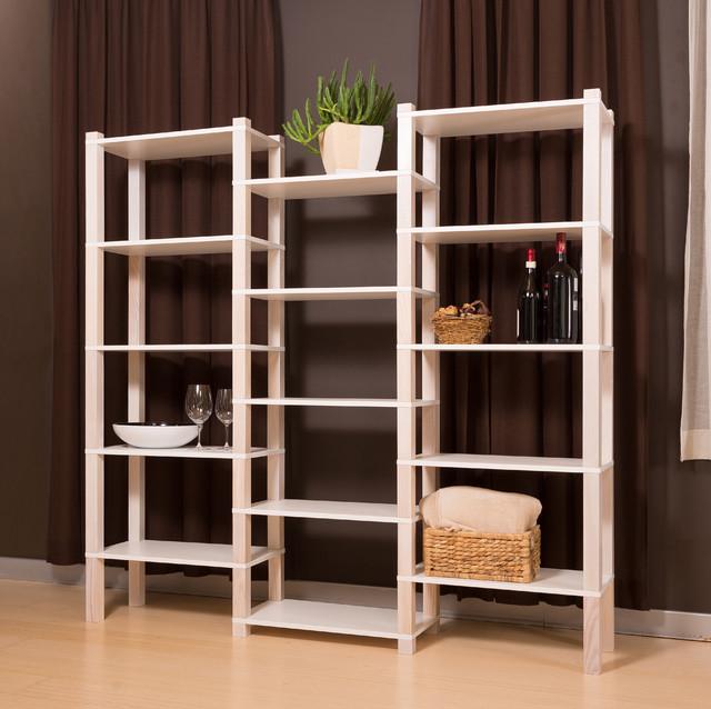 Open Storage Organization Display: Modular Open 3-unit Shelf PAULA 3/60