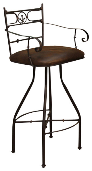 Artisan Home Valencia Swivel Microfiber Seat Barstool With