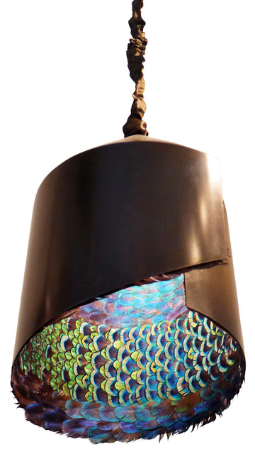 Peacock Feather Pendant Light Eclectic Pendant