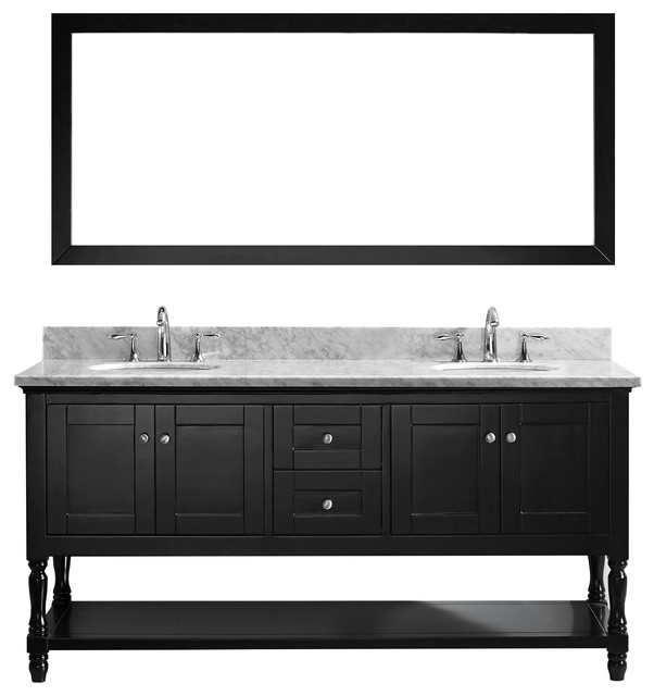 julianna double bathroom vanity set espresso double